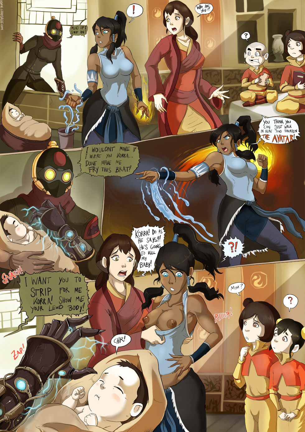 The Lezzing of Korra: Page 1