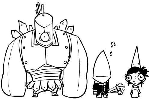 castle crasher cyclops n groom