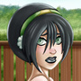 Busty Chief Toph Beifong Color by SpacePirateLord