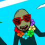 Salad Fingers on vacation!(Pico Day Art Collab project)