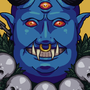 The Blue Demon in the Flowers