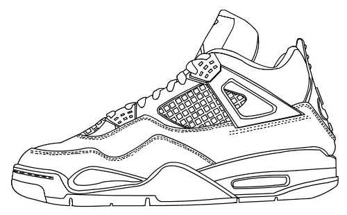 Basketball Shoes Coloring Pictures